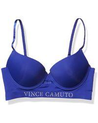 Vince Camuto Gentle Lift Push Up Demi Cup Bra - Blue