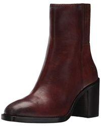 Frye Pia Chelsea Short Boot - Brown