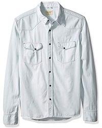 Nudie Jeans - Jonis Faded Summer Denim Shirt - Lyst