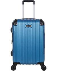 "Ben Sherman Heathrow Haul 20"" Lightweight Hardside Expandable 8-wheel Spinner Carry-on Suitcase - Blue"