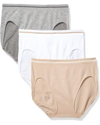 Ellen Tracy 3 Pack Seamless Tipping Hi Cut Panty - Multicolor