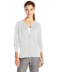 Dockers Cardigan Cotton Sweater - Gray