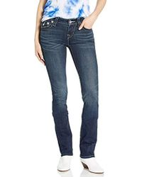 True Religion - Billie Mid Rise Straight Leg Jean - Lyst