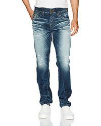 True Religion - Geno Slim Straight Jeans Back Flap Pockets - Lyst