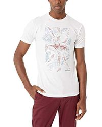64fc91568ad383 Lyst - Ted Baker Men s Yorkii Tropical Print T-shirt in Green for Men
