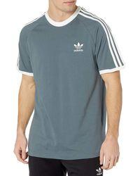 adidas Originals - ,mens,3-stripes Tee,blue Oxide,x-small - Lyst