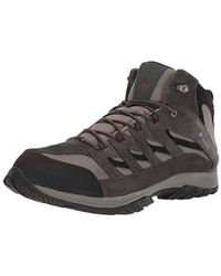 Columbia Crestwood Mid Waterproof Hiking Boot, Breathable, High-traction Grip - Multicolor
