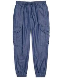 Tommy Hilfiger Adaptive Jogger Pants With One Handed Drawstring - Blue