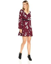 PARIS SUNDAY - Blouson Sleeve V-neck Fit And Flare Dress - Lyst
