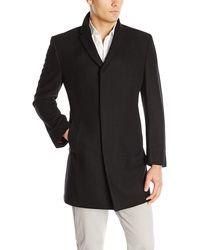 Kenneth Cole Elan Wool Top Coat - Black
