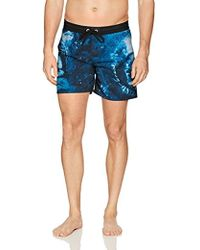 DIESEL Wave Printed 16 Inchswim Trunk - Blue