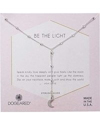 Dogeared - S Be The Light, Sparkle Crescent Y-necklace - Lyst