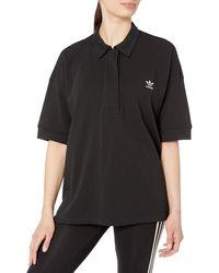 adidas Originals - Oversized Polo Shirt - Lyst