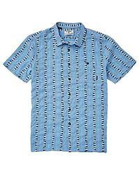 Billabong Sundays Jacquard Short Sleeve Shirt - Blue