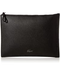 Lacoste S Leather Clutch - Black