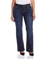 Lucky Brand Plus-size Georgia Boot Cut Jean In Richland - Blue