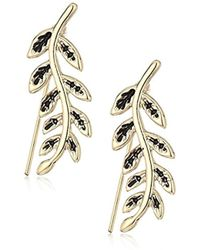 RACHEL Rachel Roy - S Leaf Crawler Earrings, Gold, One Size - Lyst