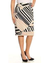 Nine West - Plus Size Multi Stripe Skirt - Lyst