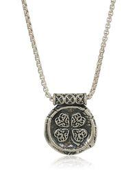 ALEX AND ANI Four Leaf Clover 32-inch Pendant Necklace - Metallic