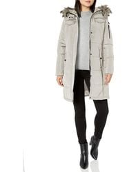 Lucky Brand 3/4 Down Jacket With Faux Fur Hood - Multicolor