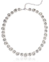 Napier Necklace 16 Inch Teardrop Collar - Metallic