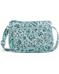 Vera Bradley - Signature Cotton Little Hipster Crossbody Purse With Rfid Protection - Lyst