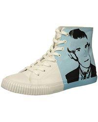 Calvin Klein - Iconic Canvas/warhol Print 3 Sneaker - Lyst