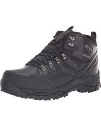 Skechers Relment-Traven, Stivali da Escursionismo Alti Uomo, Nero (Black BBK), 43 EU