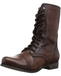 Steve Madden Troopa Lace-up Boot Brown