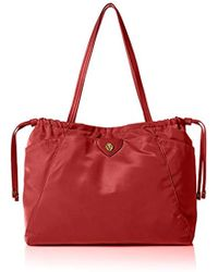 Anne Klein Wander Med Aly Nylon Tote - Red