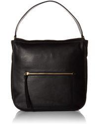 Cole Haan Jade Leather Bucket Hobo Bag - Black
