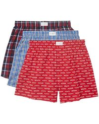 Tommy Hilfiger Underwear Multipack Cotton Classics Woven Boxer - Red