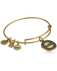 "ALEX AND ANI - ""sorority"" Alpha Delta Pi Expandable Rafaelian Wire Bangle Bracelet - Lyst"
