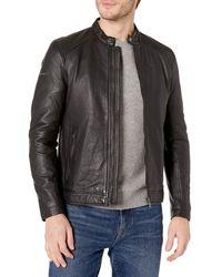 Superdry Lightweight Leather Racer Jacket - Black