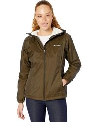 Columbia Plus Size Switchback Sherpa Lined Jacket - Green