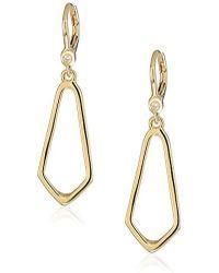 Ivanka Trump - Classics Gold-tone Open Drop Earrings, Size 0 - Lyst