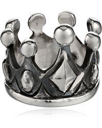 King Baby Studio Sterling Silver Crown Ring - Metallic