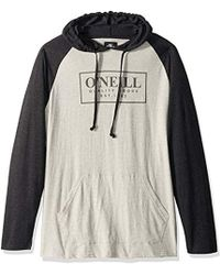 O'neill Sportswear Light Weight Pullover Sweatshirt Hoodie - Gray