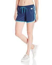 Skechers - Active Sketch Chevron Run Short, Dress Blue/multi Combo, Large - Lyst