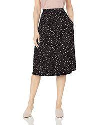 Tahari Inverted Midi Pleat Skirt - Black