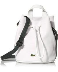 Lacoste S Small Court Line Bucket Bag - Blue
