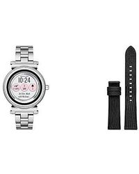Michael Kors - Access, Smartwatch, Sofie Stainless Steel, Mkt5020 With Smartwatch Sofie Leather Strap - Lyst