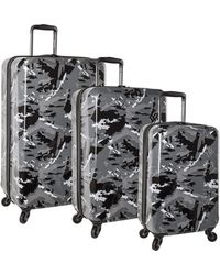 Columbia 3 Piece Hardside Spinner Luggage Suitcase Set - Multicolor