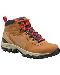 Columbia Newton Ridge Plus Ii Suede Waterproof Wide High-traction Grip - Red