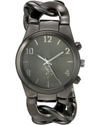 U.S. POLO ASSN. Usc42016 Analog Display Japanese Quartz Black Watch