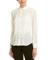 Nanette Nanette Lepore - Ls Buttondown Shirt W/pintucs - Lyst