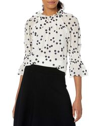 Rebecca Taylor Long Sleeve Floral Embroidered Blouse - White