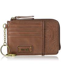 The Sak Iris Leather Card Wallet - Brown