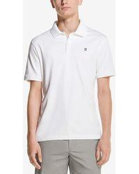 DKNY Solid Short Sleeve Supima Cotton Polo Shirt - White