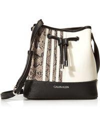 Calvin Klein Gabrianna Mini Bucket Bag - Multicolor